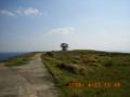 粟国島の岬へ