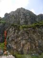 渡名喜島の険しい山肌