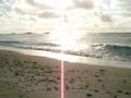 夕焼けが近づくニシ(北)浜