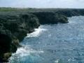 波照間島高那崎の絶壁の海(2005.5.18)