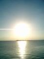 宮古島・久松漁港に沈む夕日
