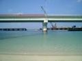 波の上ビーチに架かる橋の工事は進む!