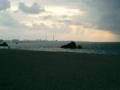 北谷・アラハビーチの夕日