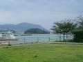 久米島・鳥島からガラサー山を望む
