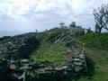 久米島・宇江城城跡から宇江城岳を望む
