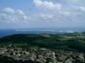 久米島・宇江城城跡から「ハテの浜」方面を望む