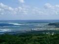 久米島・阿嘉から奥武島方面を望む