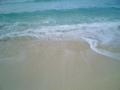 砂山ビーチの落ち着いた海