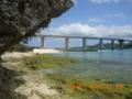 瀬底島から本部側を眺める