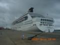 台湾・香港から豪華客船が石垣港へ入港中!