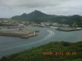 与那国島・久部良港を見下ろす!