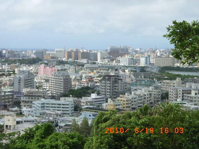 旧海軍司令部跡から那覇方面の眺望