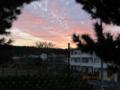 石川の町の夕暮れ