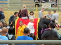 国際色豊かに石川闘牛場の夜