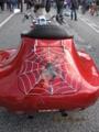 個性派のレッドのバイクマシン