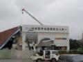 伊良部島の解体中の施設