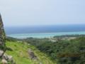 今帰仁城から北方面のサンゴ礁