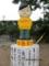 謝花地区のソニー坊や像