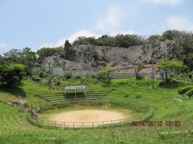 うるま市安慶名城跡と闘牛場