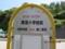 津波小学校前バス停は見事なデイゴ花