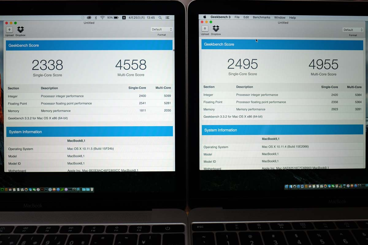 MacBook 12 2016 vs 2015 64bit