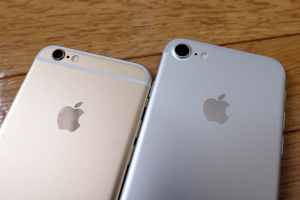 iPhone6sとiPhone7の比較1
