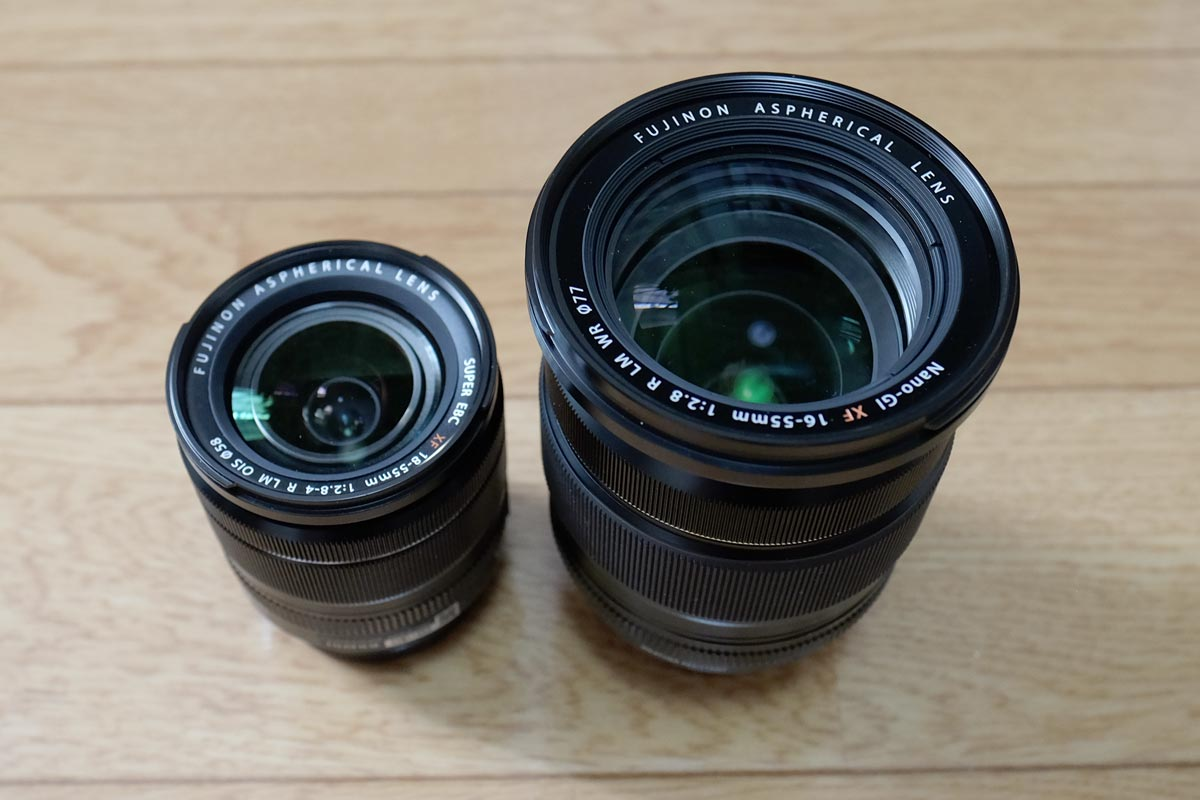 XF18-55とXF16-55 外観比較1