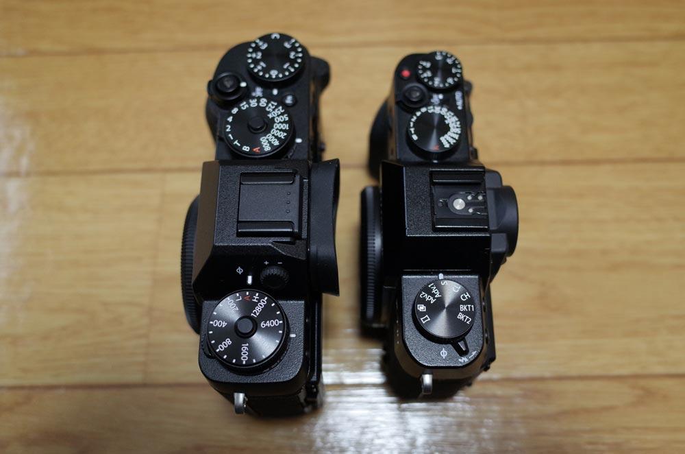 X-T2とX-T10の比較2