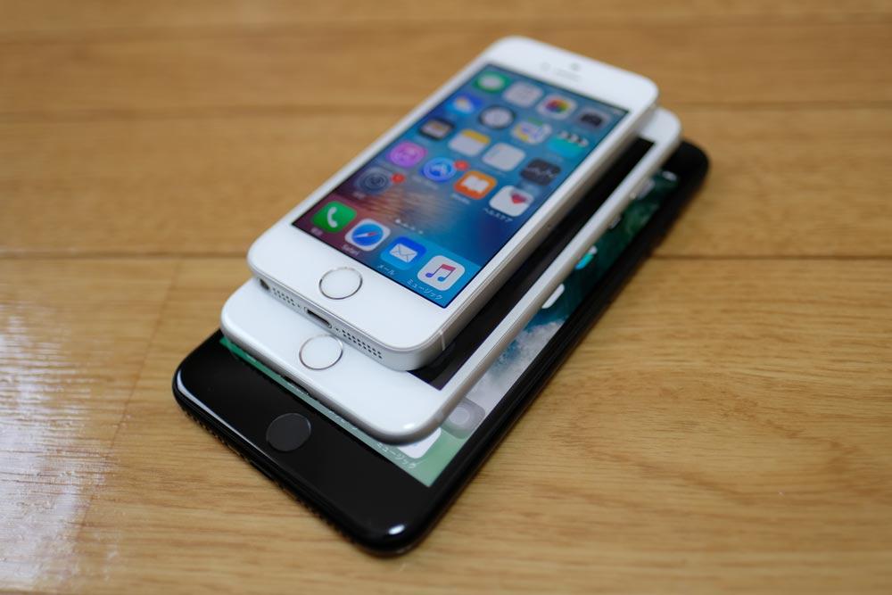 iPhone7、iPhone7 Plus、iPhone SEの比較