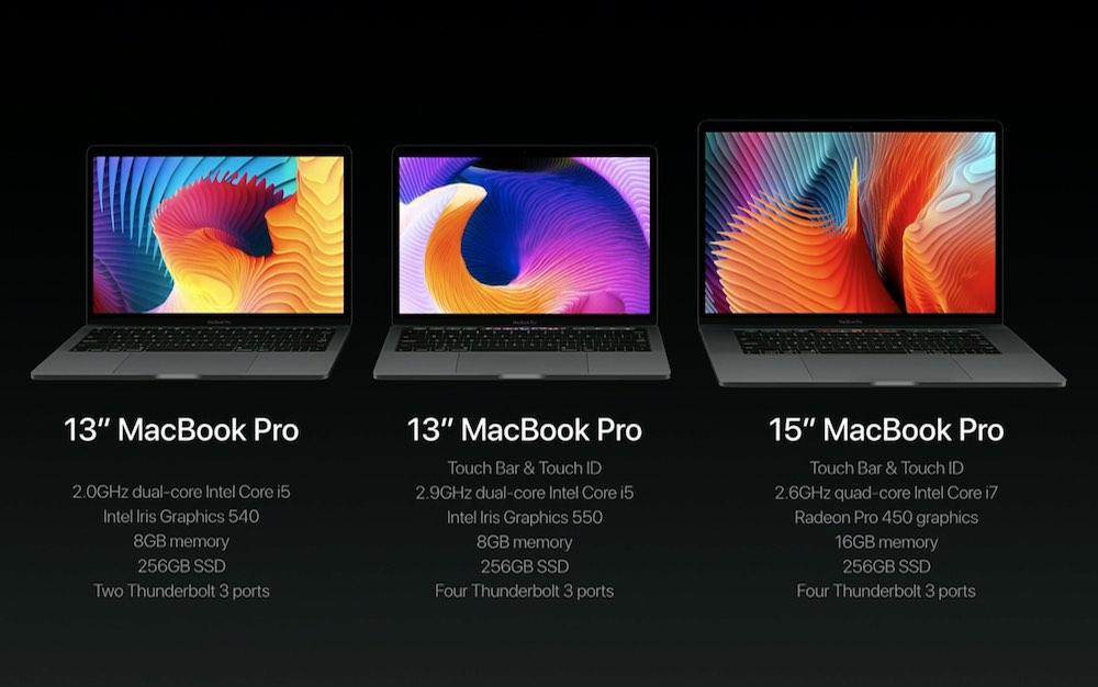 MacBook Pro 2016 ラインナップ
