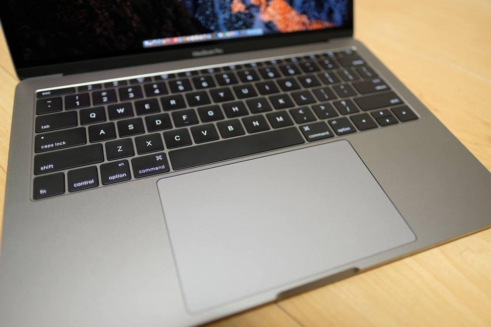 13インチMacBook Pro 2016のトラックパッド