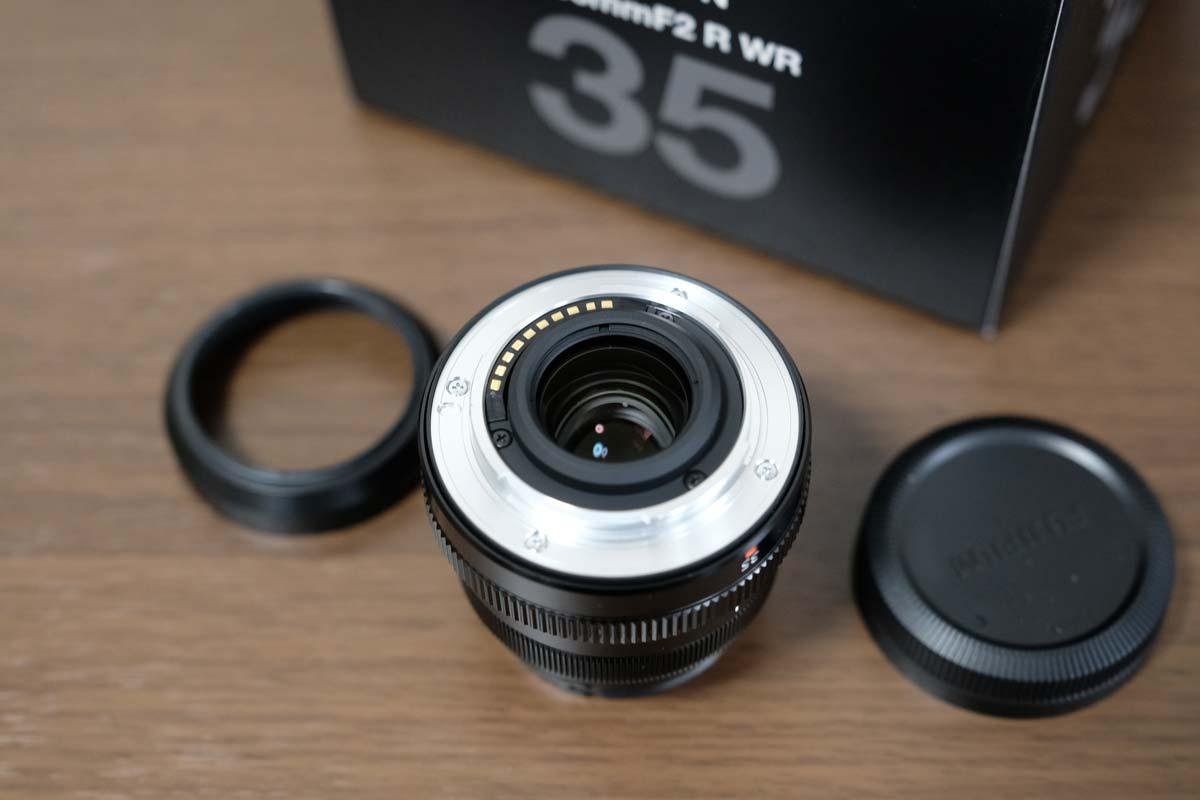 XF35mmF2 R WRのカメラ接合部