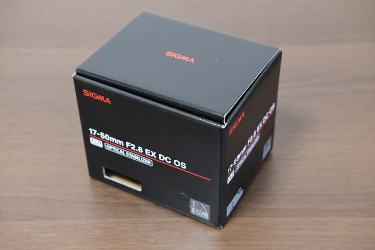 SIGMA 17-50mm F2.8 EX DC OS HSMの箱