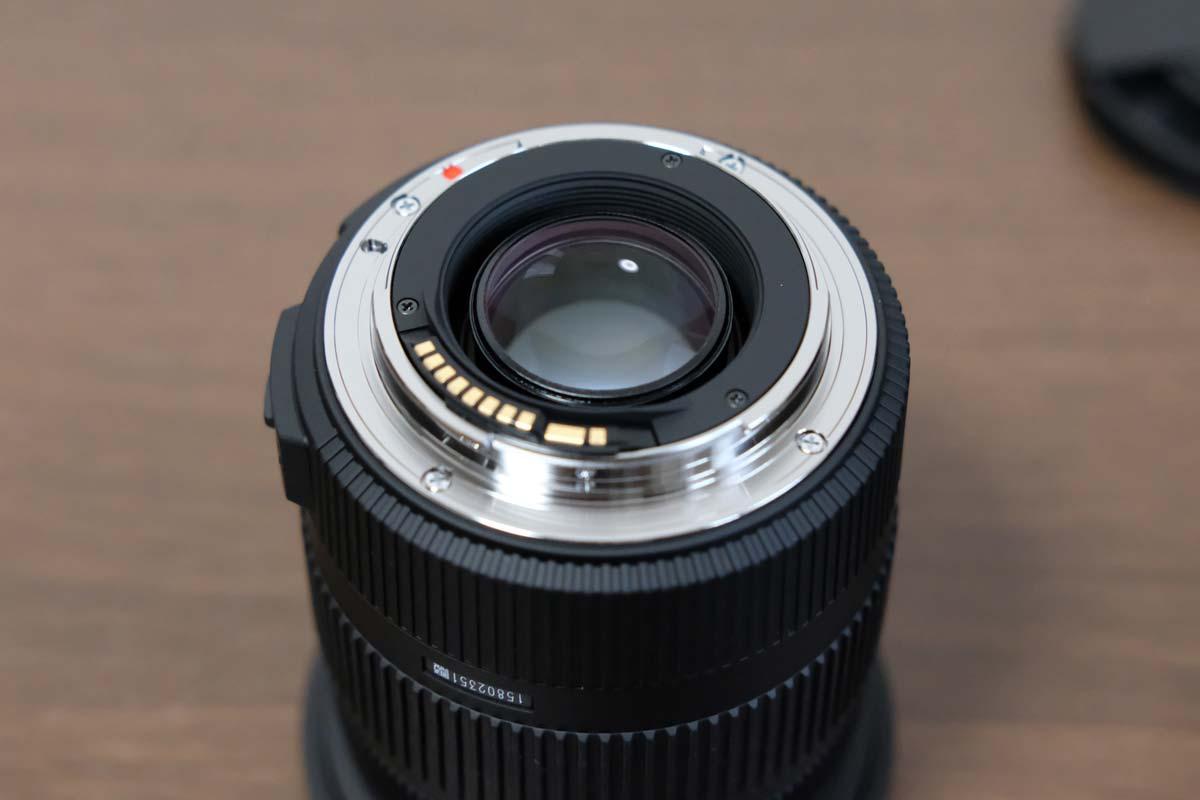 SIGMA 17-50mm F2.8 EX DC OS HSM 接合部