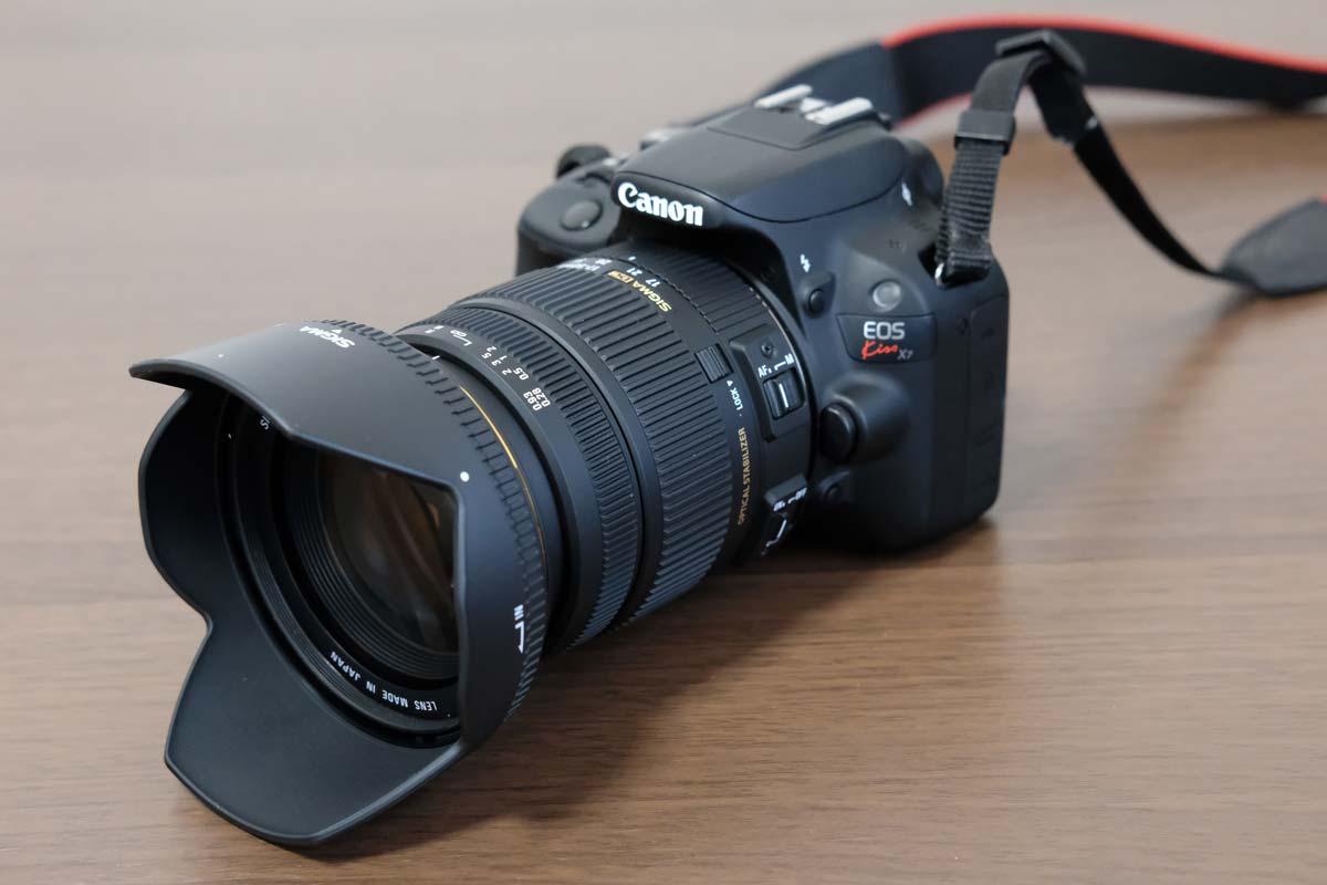 SIGMA 17-50mmとEOS kiss X7
