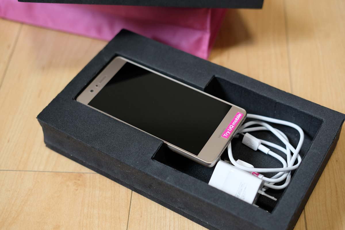 Try UQ mobileのHUAWEI P9 lite PREMIUM
