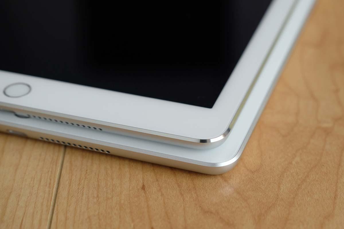 iPad(第5世代)のエッジ部分の加工