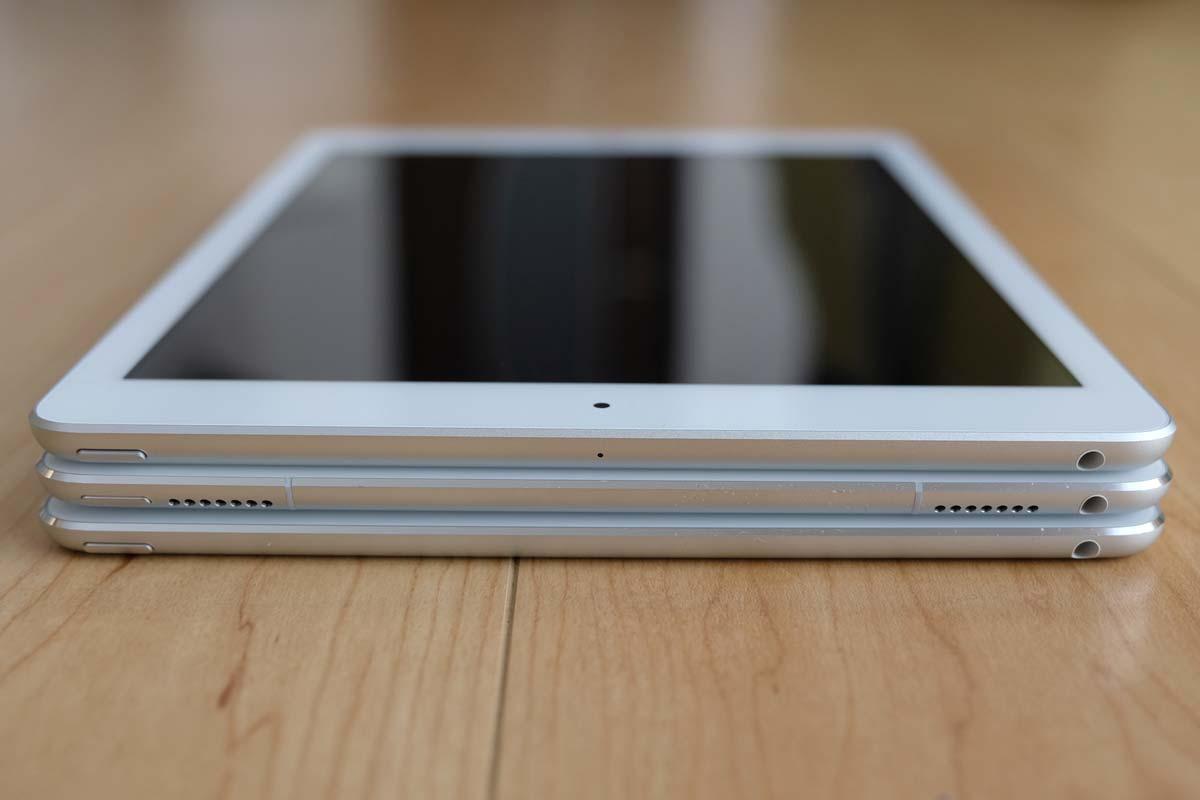 iPad(第5世代)、iPad Pro、iPad Air 2 比較3