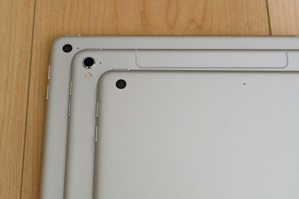 iPad(第5世代)、iPad Pro、iPad Air 2 カメラの比較