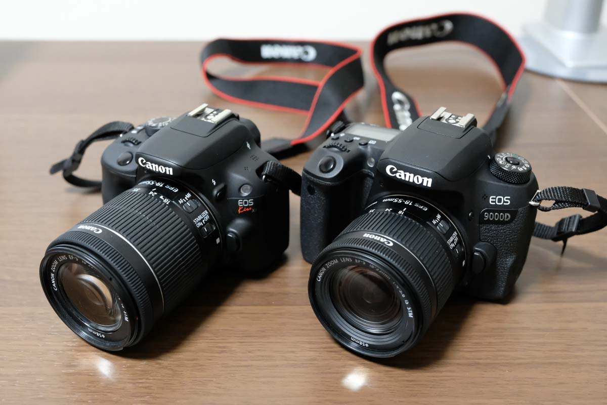 EOS 9000Dとkiss X7