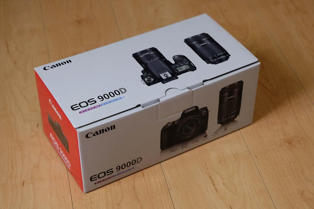 EOS 9000Dの箱