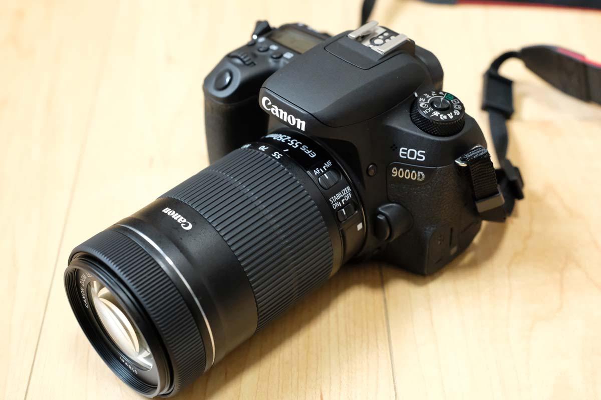 EOS 9000DとEF-S 55-250mm