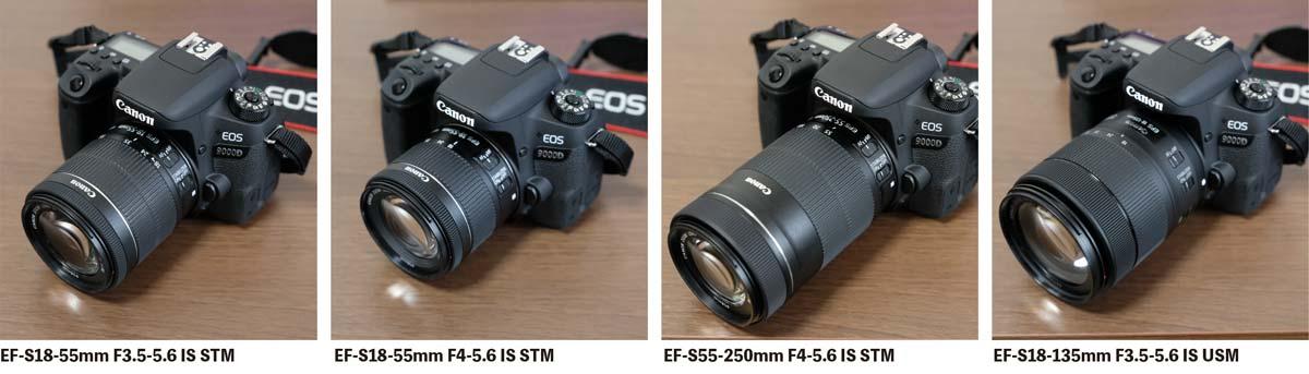 Canon OS 9000DとEF-Sレンズ