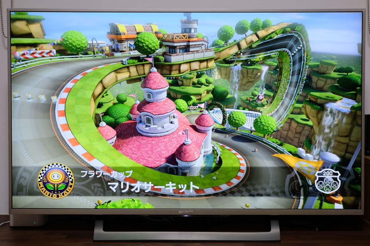 マリオカート8デラックスと4Kテレビ