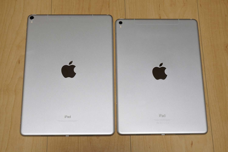 iPad Pro 10.5とiPad Pro 9.7 背面比較