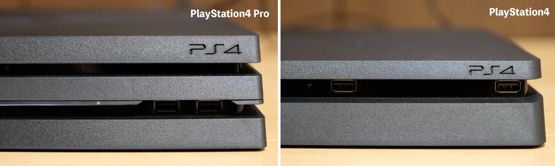 PS4 ProとPS4 本体比較 USBポート
