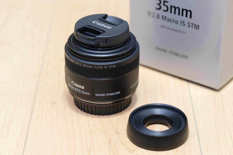 EF-S35mm F2.8 マクロ レンズフード外した状態