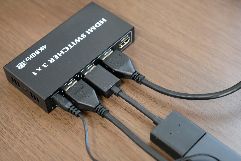 BLUPOW4K60Hz対応HDMIセレクター 配線