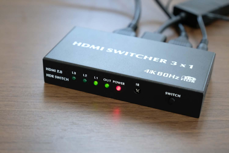 BLUPOW4K60Hz対応HDMIセレクター 操作パネル