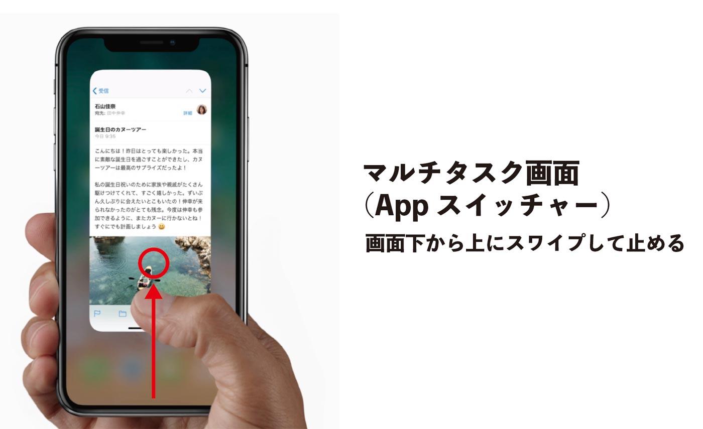 iPhone X マルチタスク画面